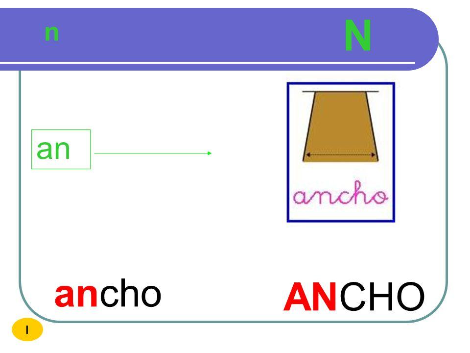 N n an ancho ANCHO I