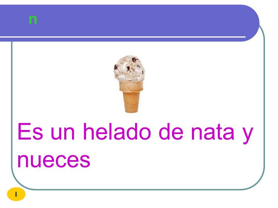 Es un helado de nata y nueces