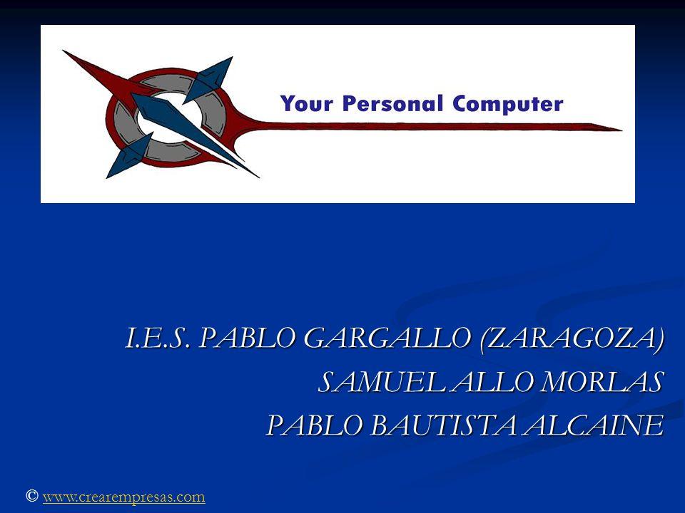 I.E.S. PABLO GARGALLO (ZARAGOZA) SAMUEL ALLO MORLAS