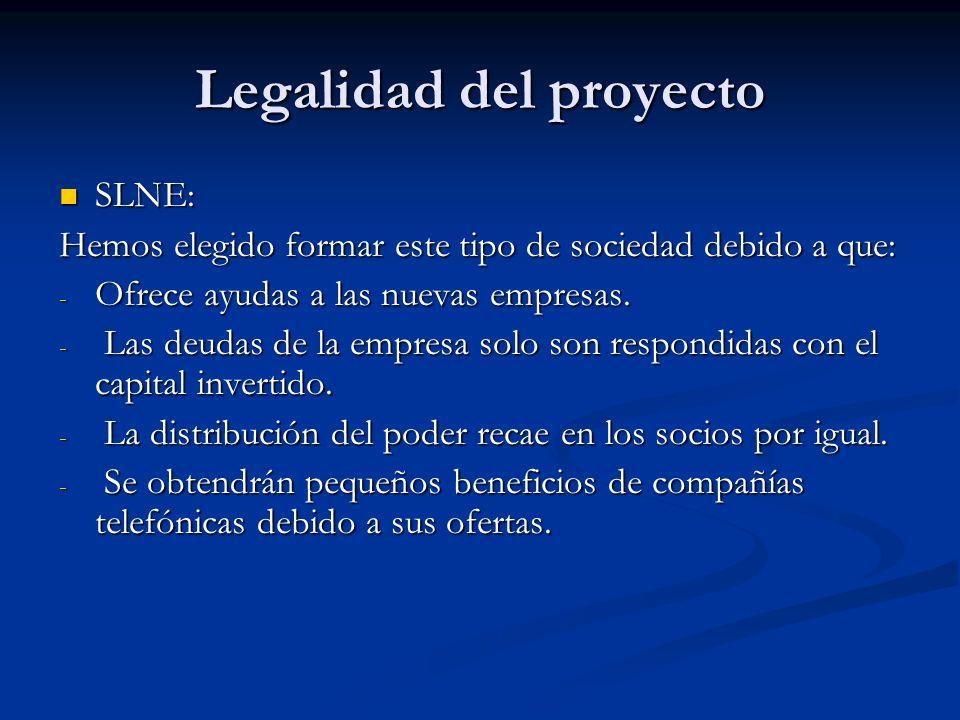 Legalidad del proyecto