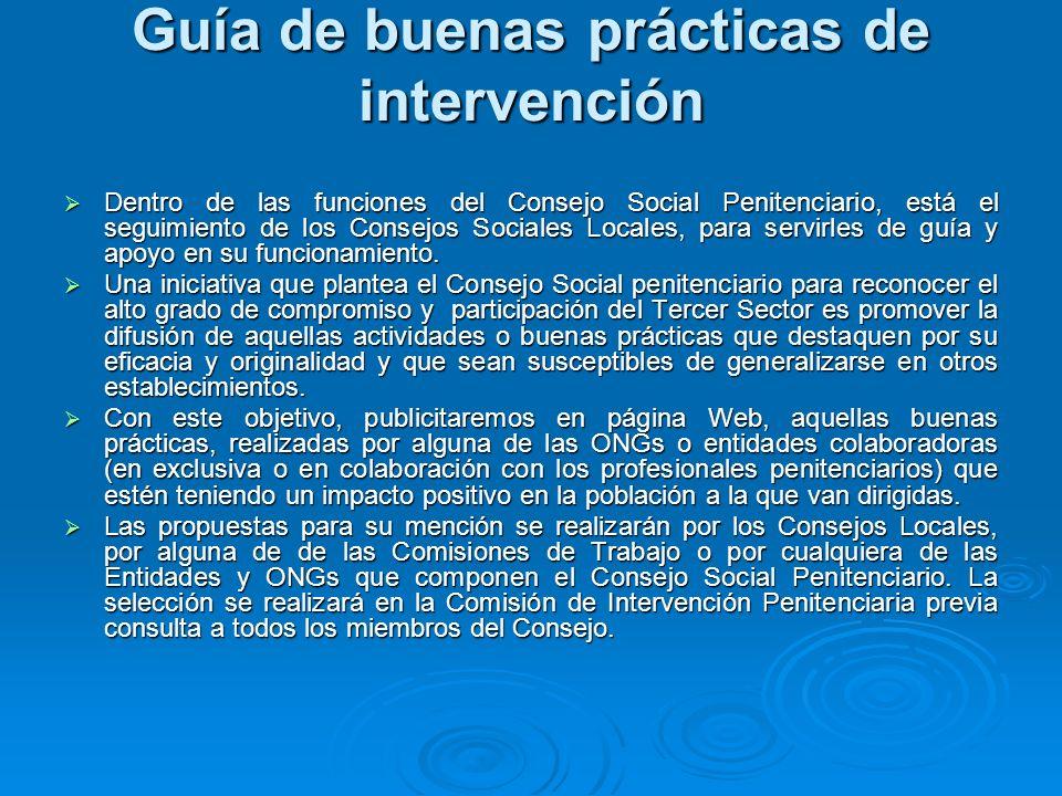 Guía de buenas prácticas de intervención