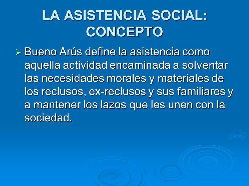 LA ASISTENCIA SOCIAL: CONCEPTO