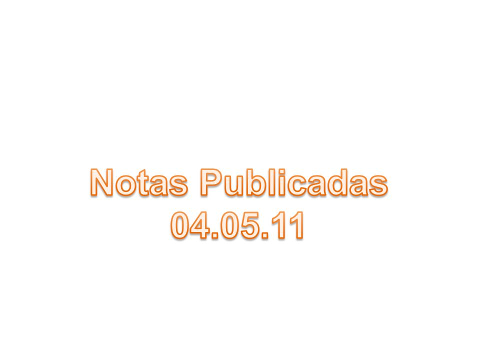 Notas Publicadas 04.05.11
