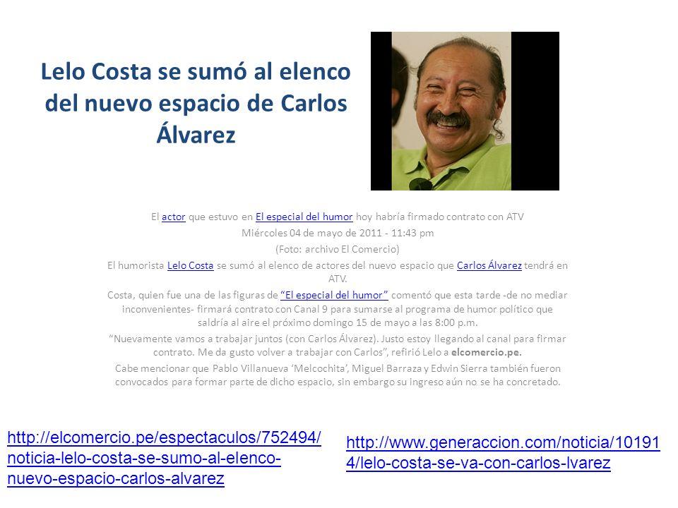 Lelo Costa se sumó al elenco del nuevo espacio de Carlos Álvarez