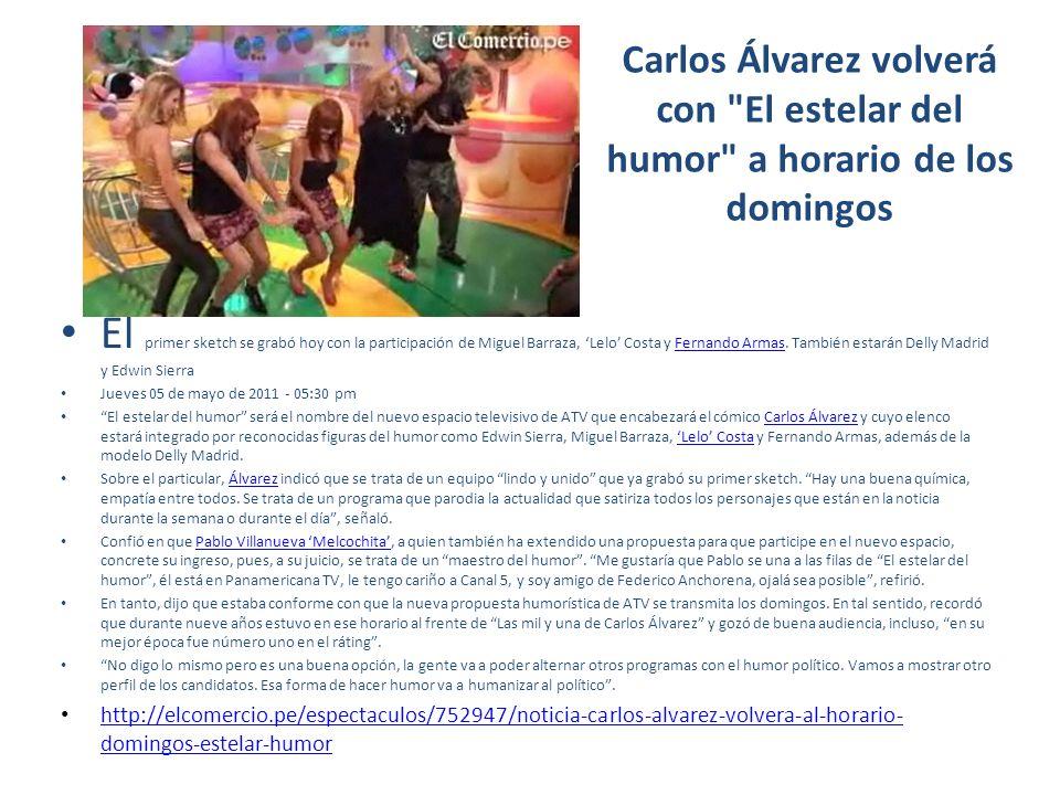 Carlos Álvarez volverá con El estelar del humor a horario de los domingos