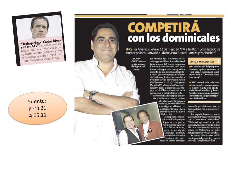 Fuente: Perú 21 4.05.11