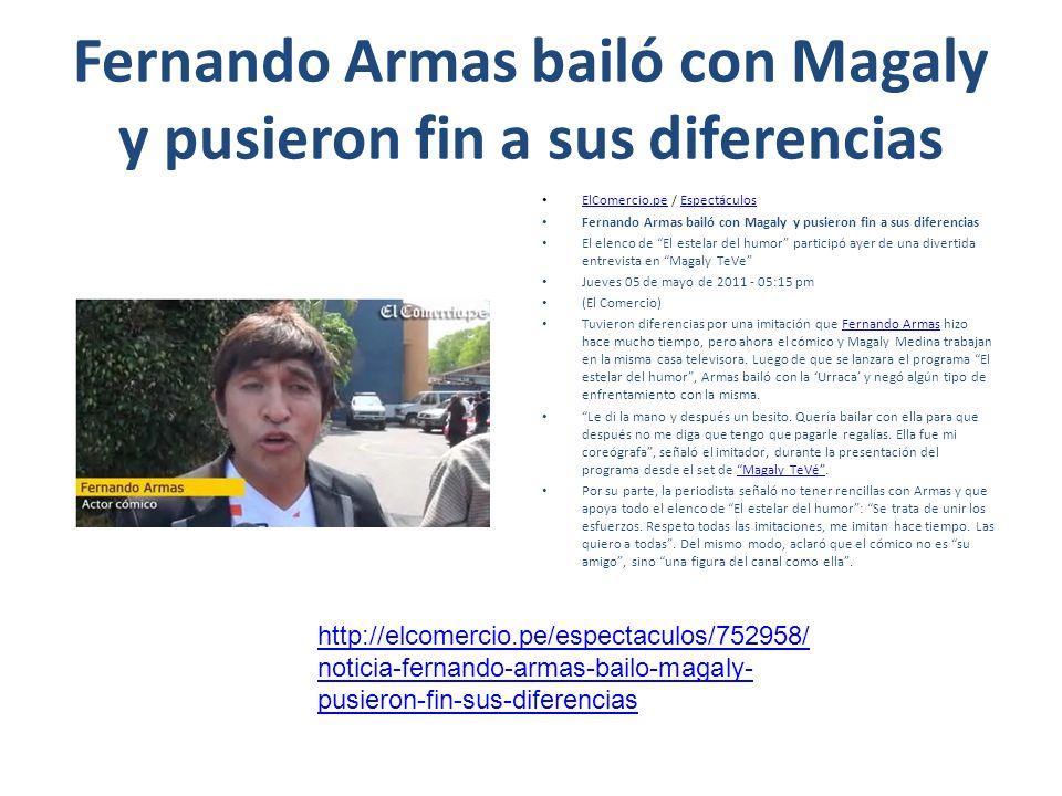Fernando Armas bailó con Magaly y pusieron fin a sus diferencias