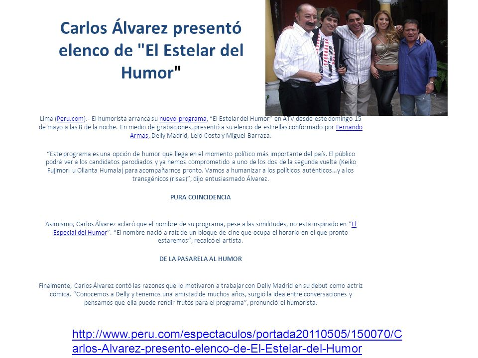 Carlos Álvarez presentó elenco de El Estelar del Humor