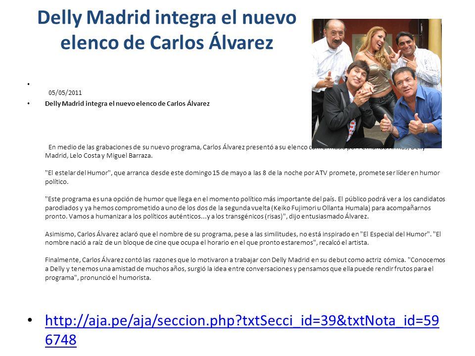 Delly Madrid integra el nuevo elenco de Carlos Álvarez