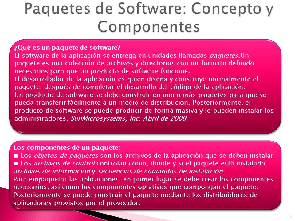 Paquetes de Software: Concepto y Componentes