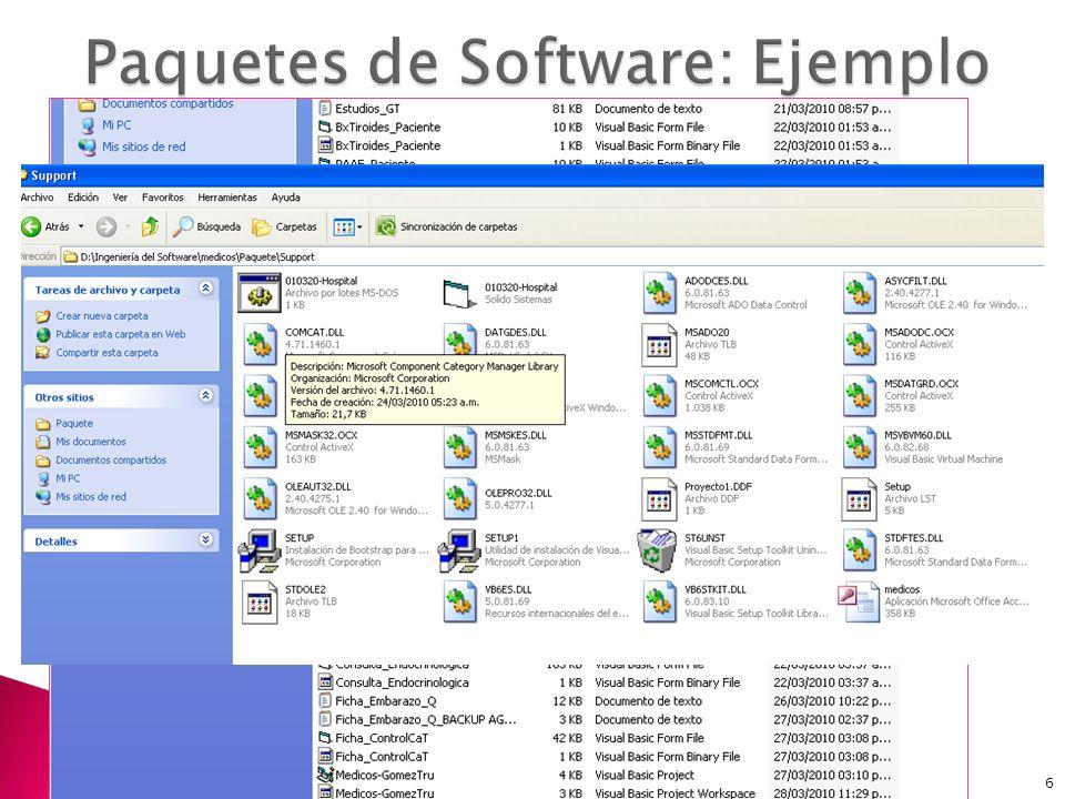 Paquetes de Software: Ejemplo