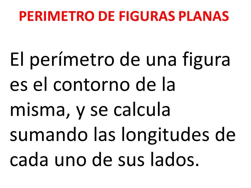PERIMETRO DE FIGURAS PLANAS