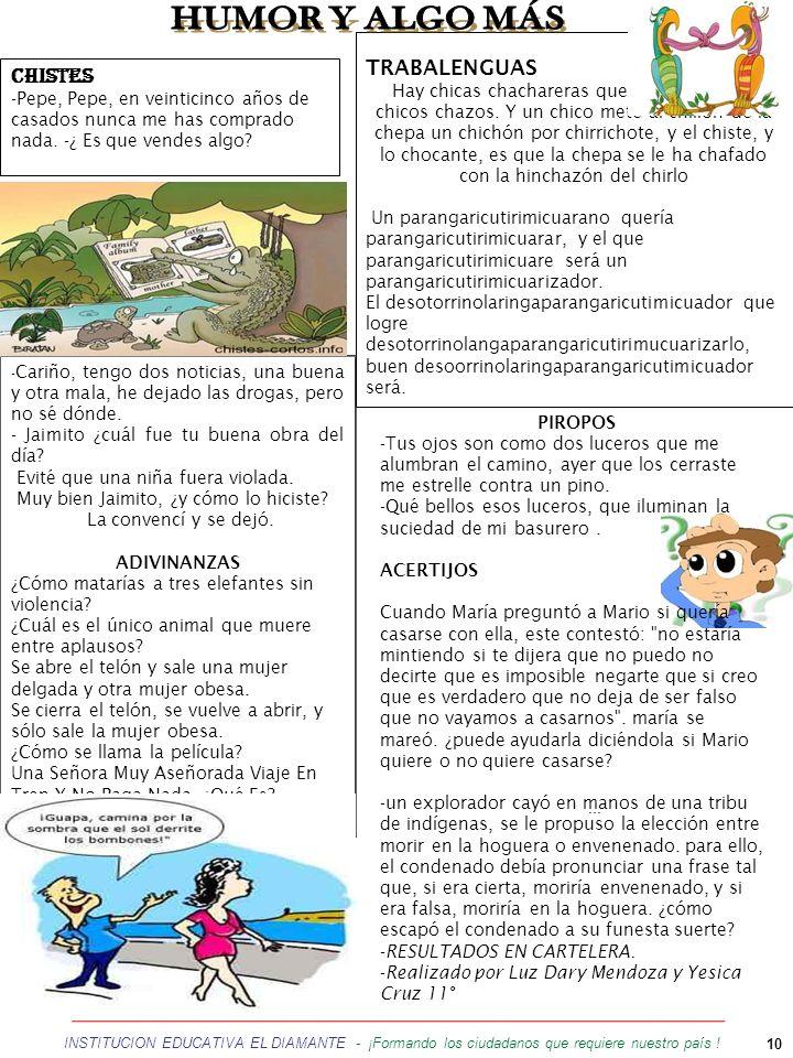 HUMOR Y ALGO MÁS TRABALENGUAS CHISTES