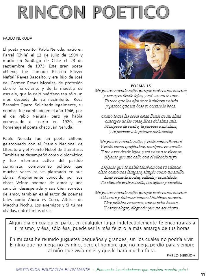 RINCON POETICO PABLO NERUDA