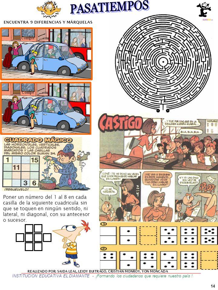 ENCUENTRA 9 DIFERENCIAS Y MÁRQUELAS