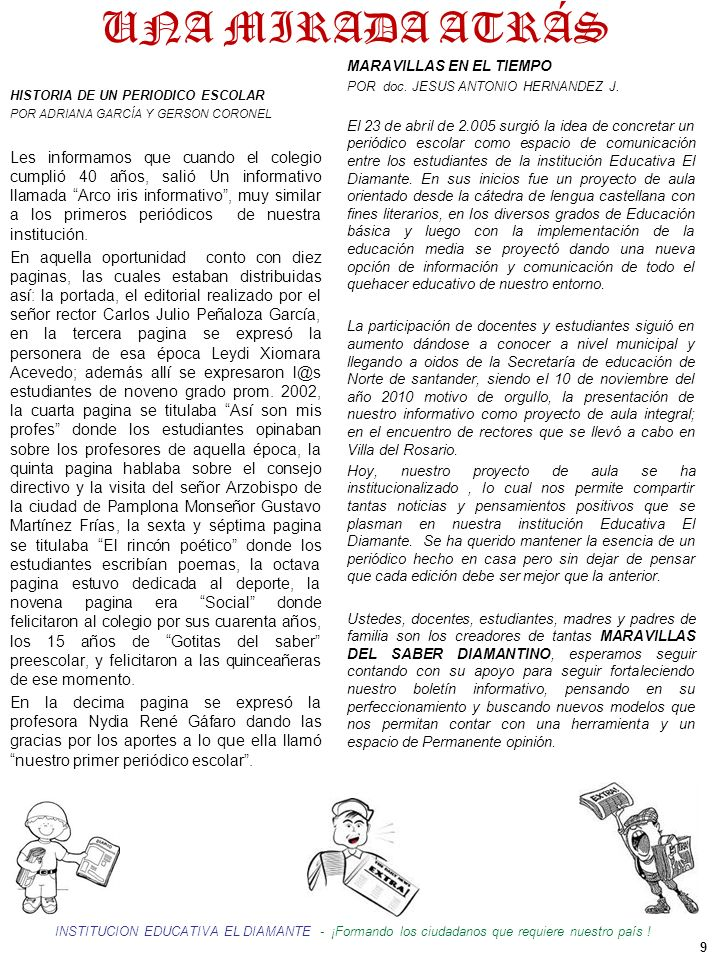 UNA MIRADA ATRÁS MARAVILLAS EN EL TIEMPO. POR doc. JESUS ANTONIO HERNANDEZ J.