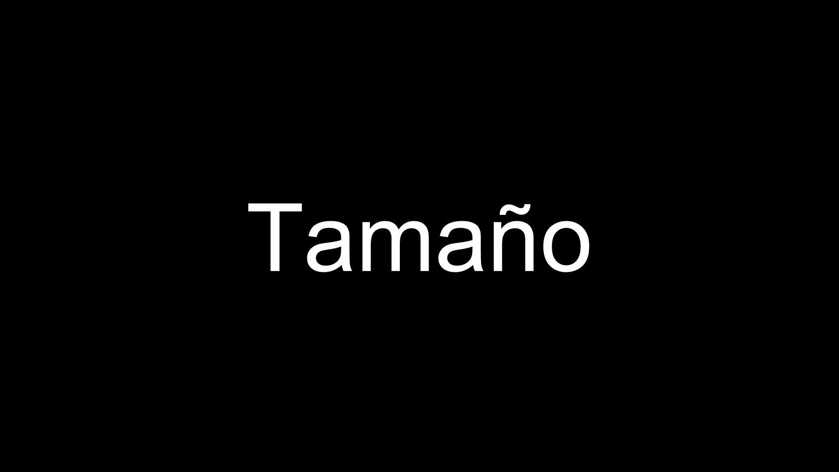Tamaño