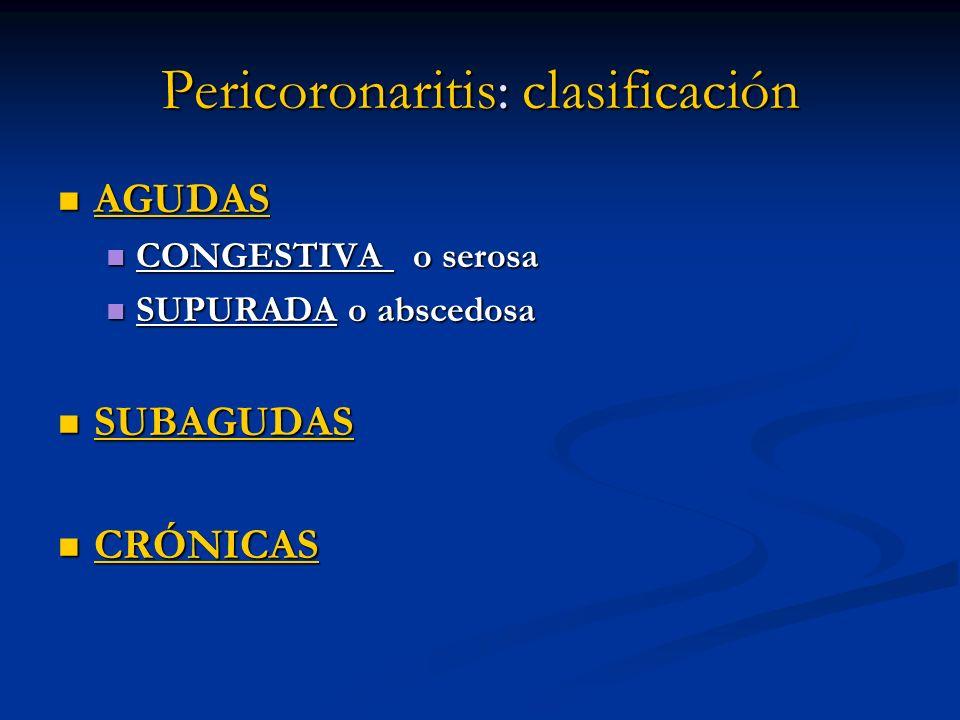 Pericoronaritis: clasificación