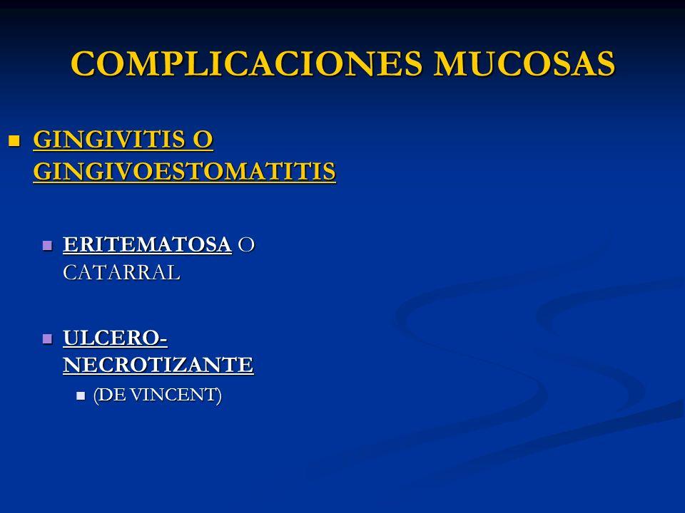 COMPLICACIONES MUCOSAS
