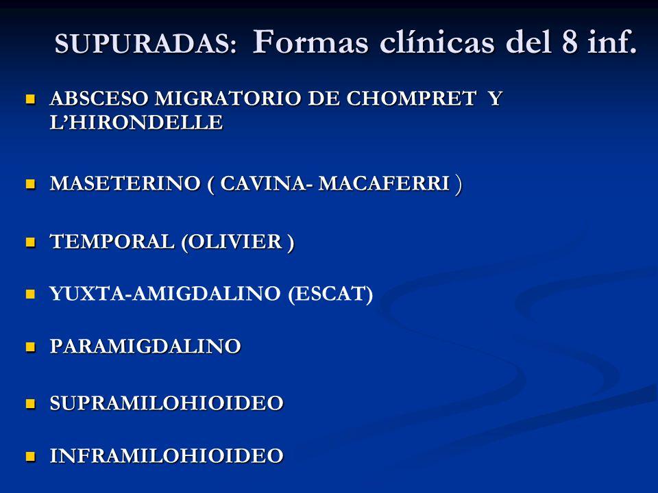 SUPURADAS: Formas clínicas del 8 inf.