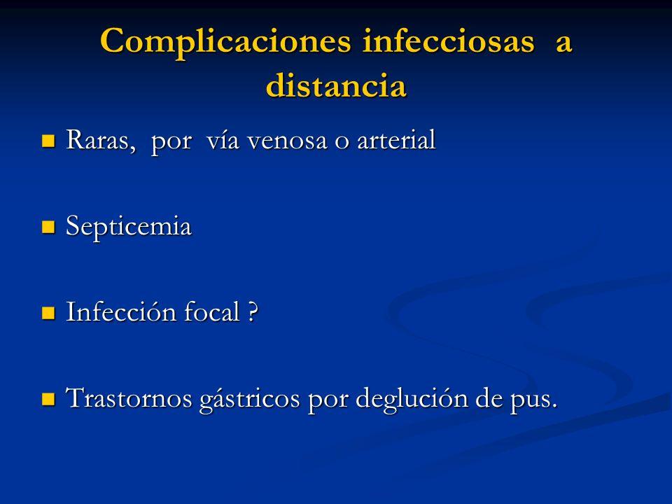 Complicaciones infecciosas a distancia