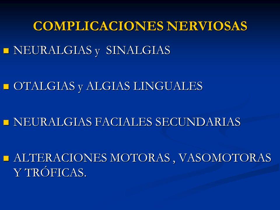 COMPLICACIONES NERVIOSAS