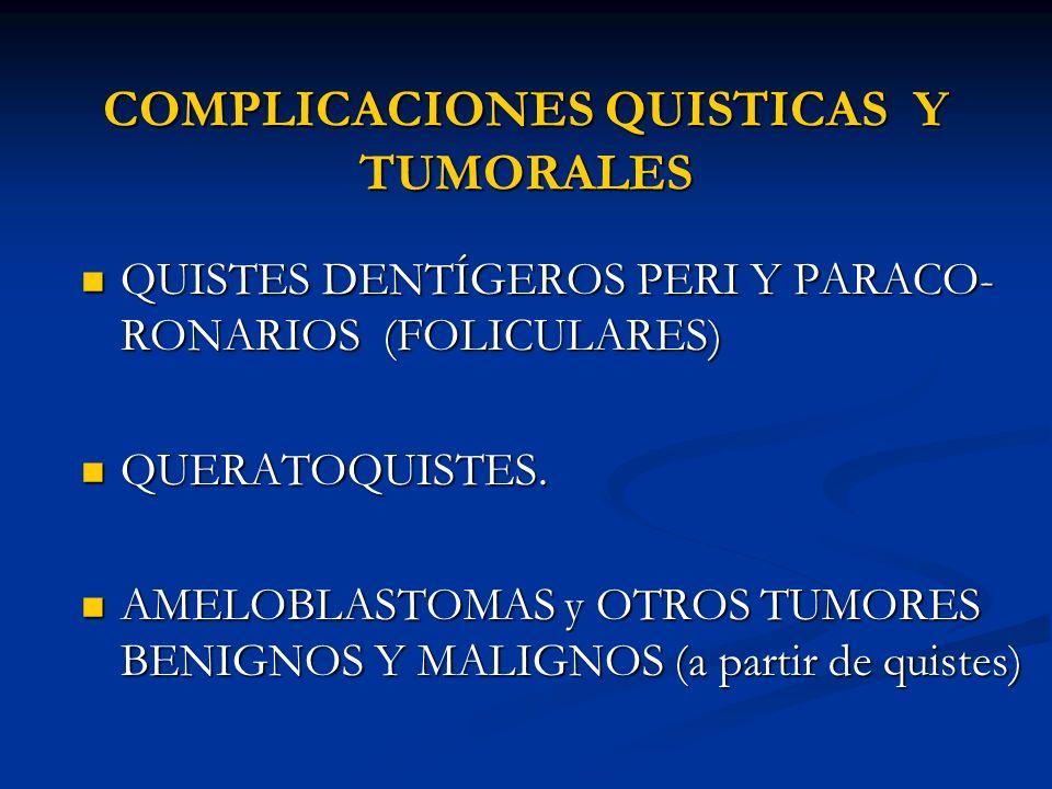COMPLICACIONES QUISTICAS Y TUMORALES