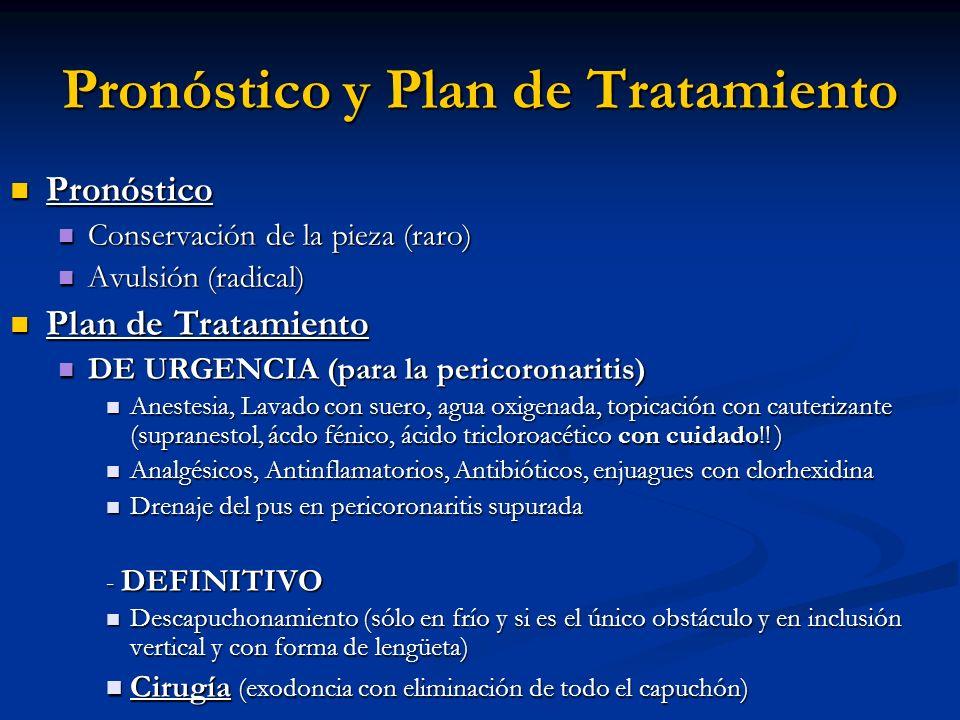 Pronóstico y Plan de Tratamiento