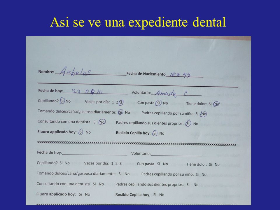 Asi se ve una expediente dental