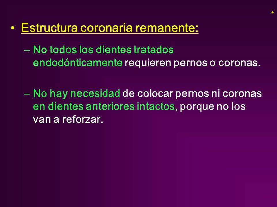 Estructura coronaria remanente: