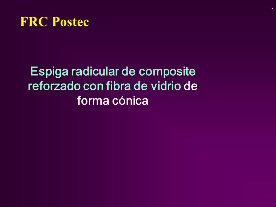 . FRC Postec Espiga radicular de composite reforzado con fibra de vidrio de forma cónica