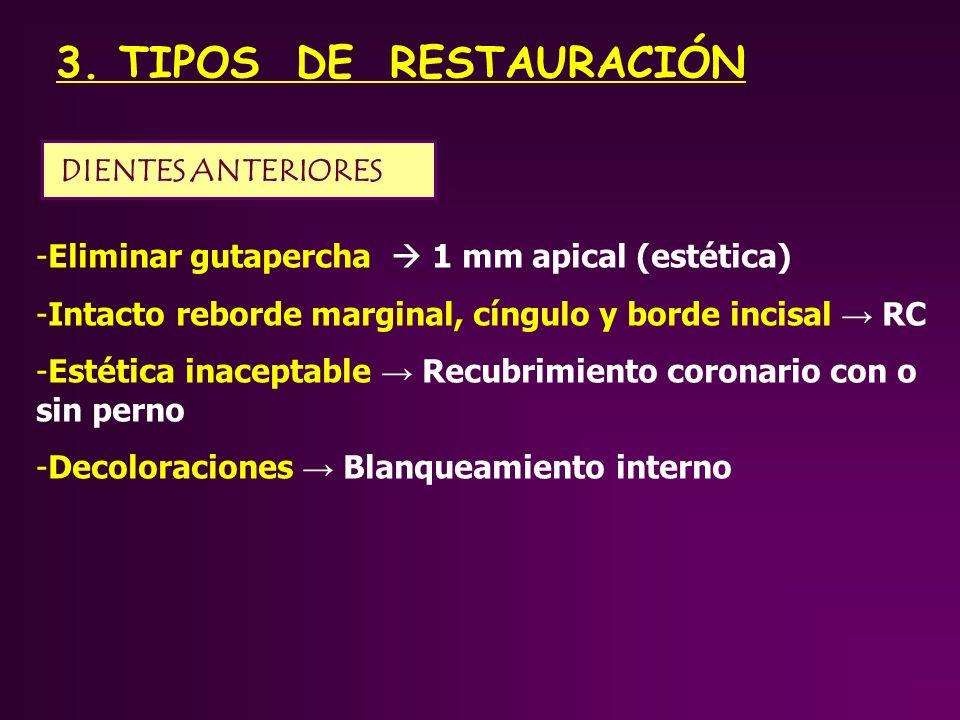 3. TIPOS DE RESTAURACIÓN DIENTES ANTERIORES