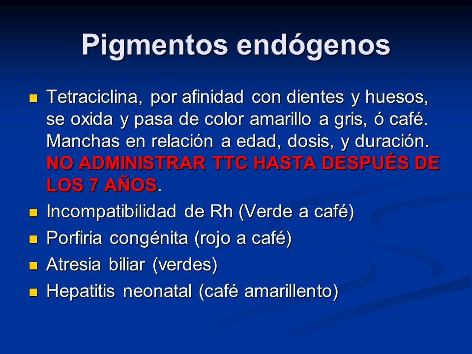 Pigmentos endógenos