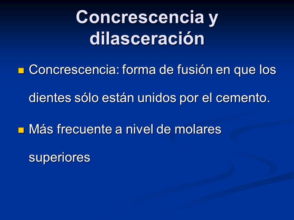 Concrescencia y dilasceración