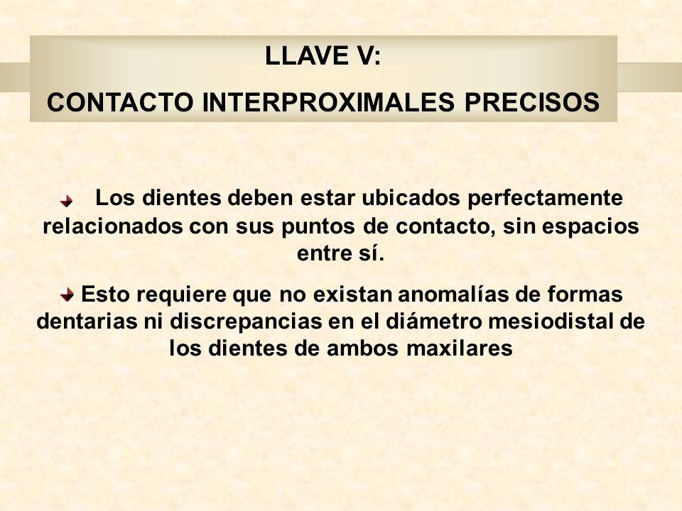 CONTACTO INTERPROXIMALES PRECISOS