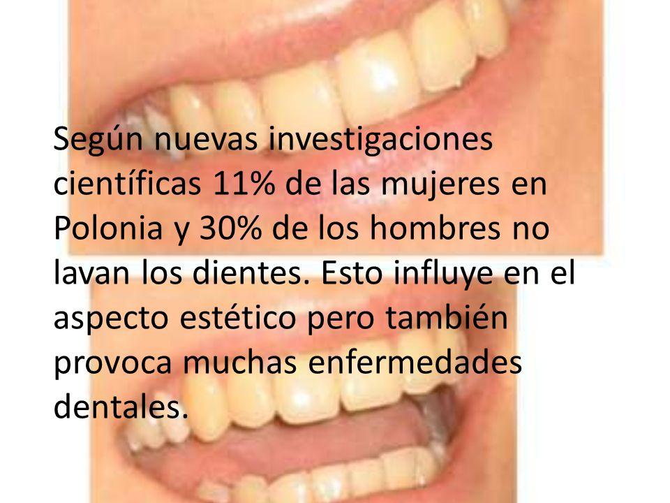 Según nuevas investigaciones científicas 11% de las mujeres en Polonia y 30% de los hombres no lavan los dientes.