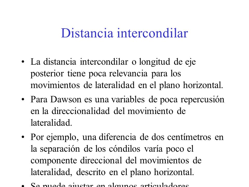 Distancia intercondilar