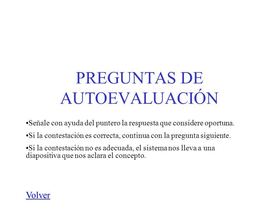 PREGUNTAS DE AUTOEVALUACIÓN