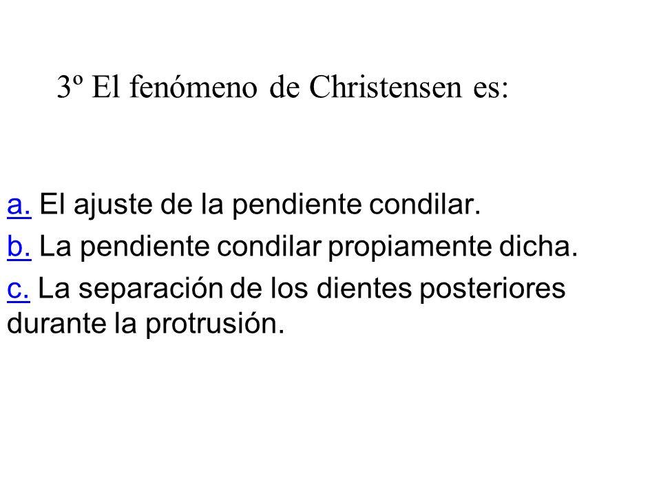 3º El fenómeno de Christensen es: