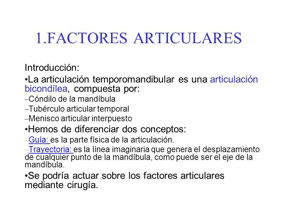 FACTORES ARTICULARES Introducción: