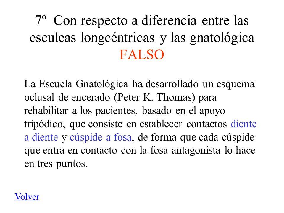7º Con respecto a diferencia entre las esculeas longcéntricas y las gnatológica FALSO