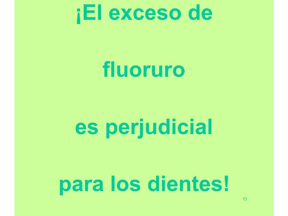 ¡El exceso de fluoruro es perjudicial para los dientes!