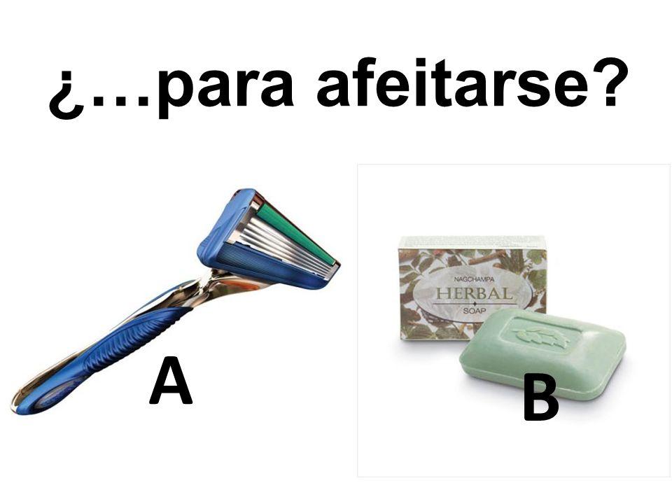 ¿…para afeitarse A B 3