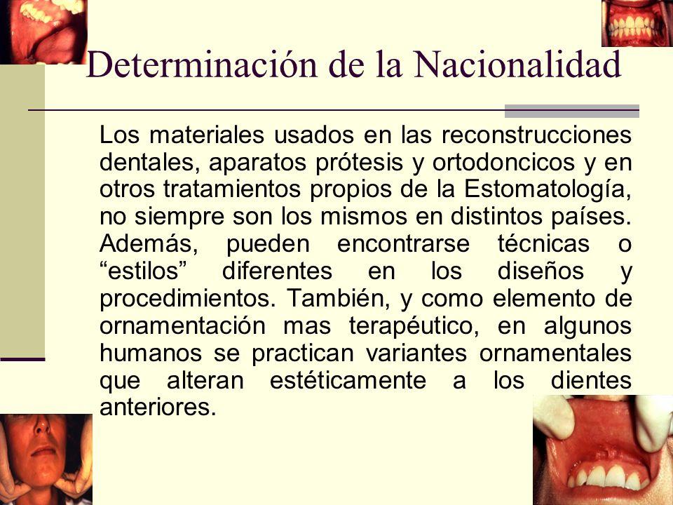 Determinación de la Nacionalidad