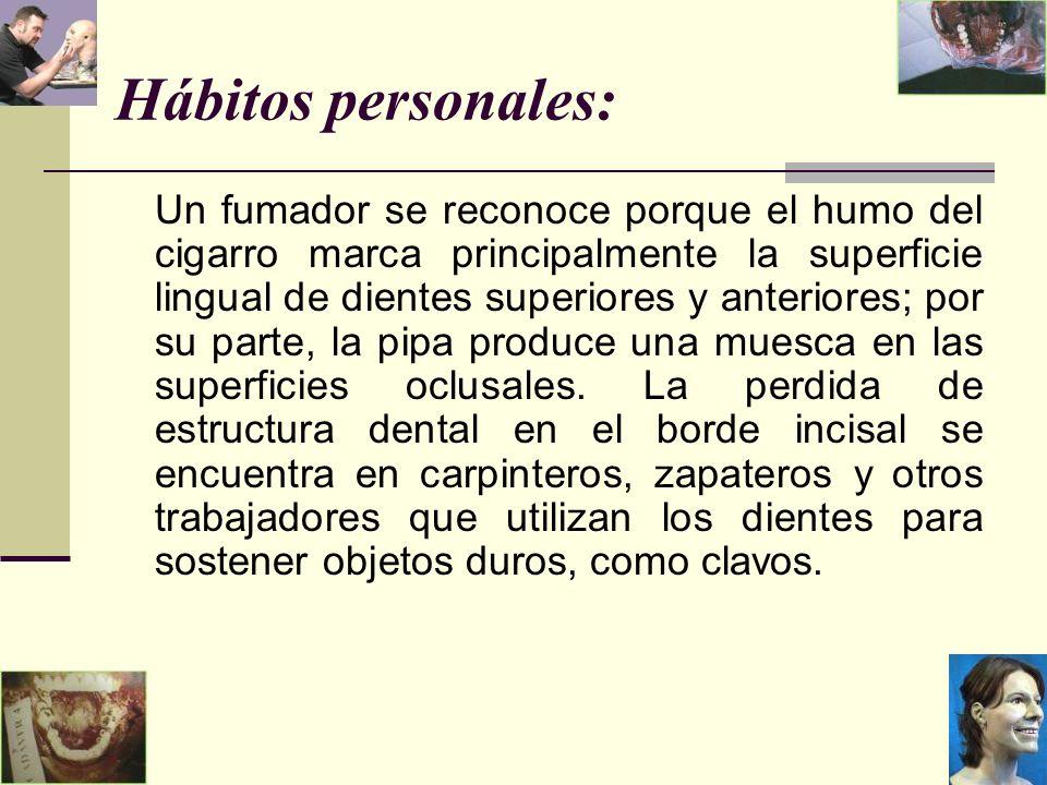 Hábitos personales: