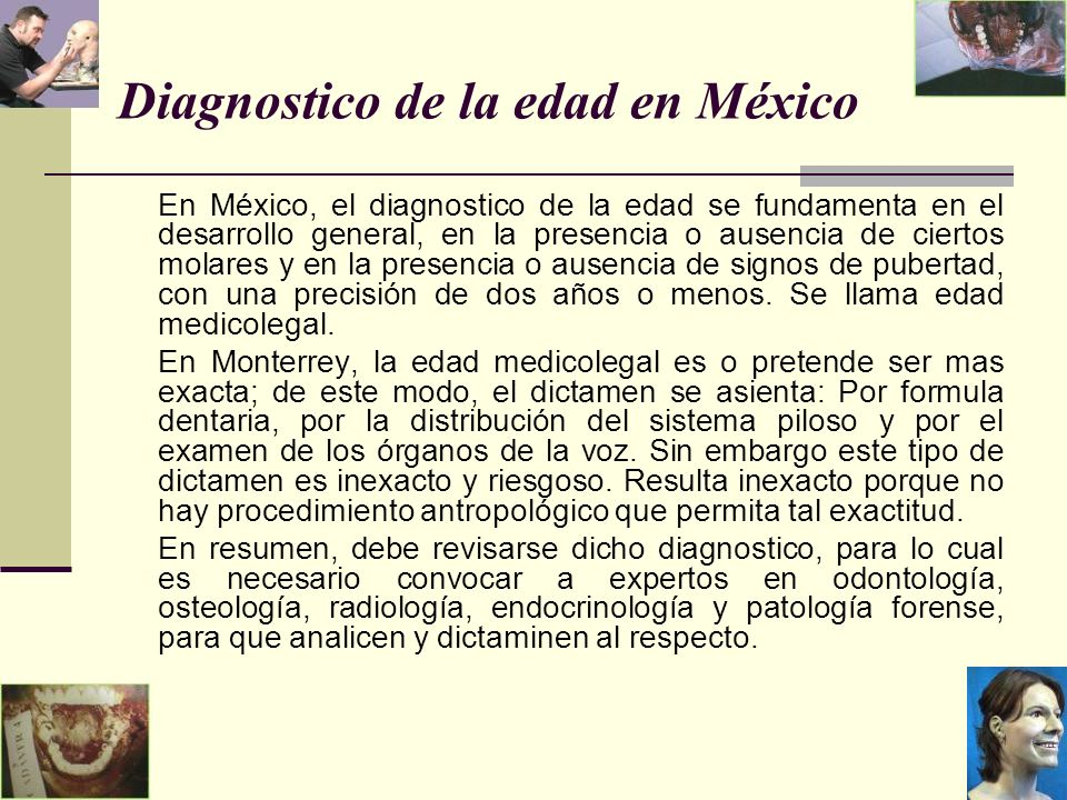 Diagnostico de la edad en México