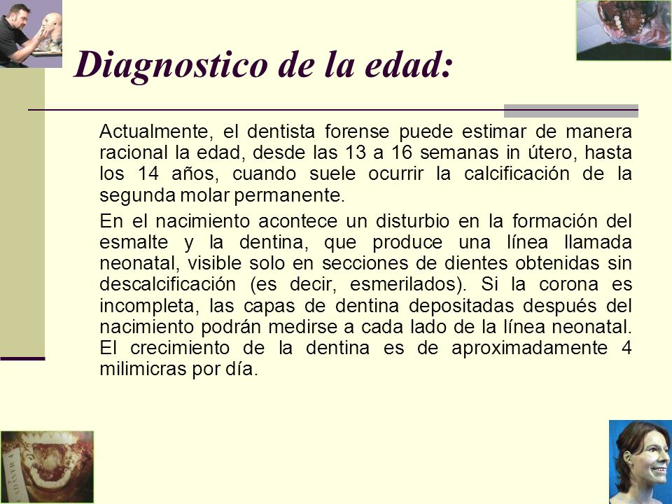 Diagnostico de la edad: