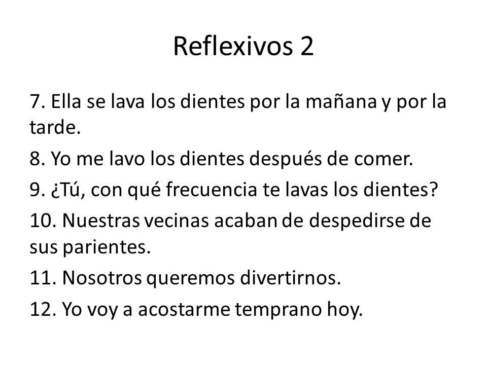 Reflexivos 2