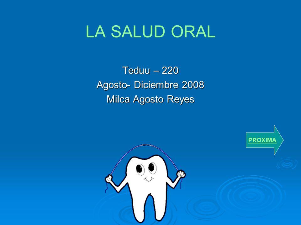 Teduu – 220 Agosto- Diciembre 2008 Milca Agosto Reyes