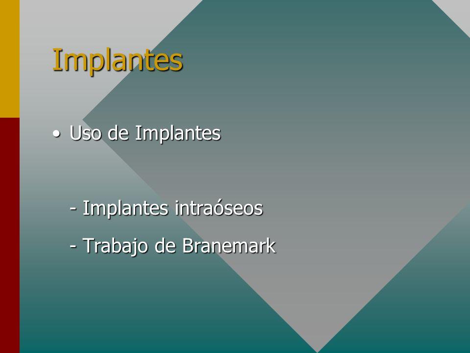 Implantes Uso de Implantes - Implantes intraóseos